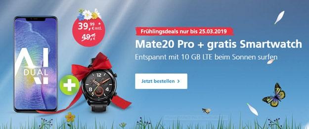 Huawei Mate 20 Pro + Huawei Watch GT Sport + o2 Free M Boost bei o2 Online