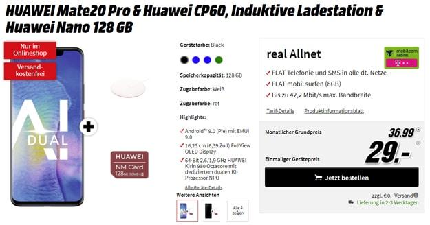Huawei Mate 20 Pro + md real Allnet (Telekom-Netz)