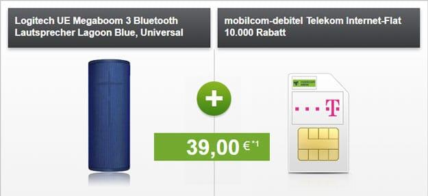 mobilcom-debitel Internet-Flat 10.000 (Telekom-Netz) + Ultimate Ears Megaboom 3 bei modeo