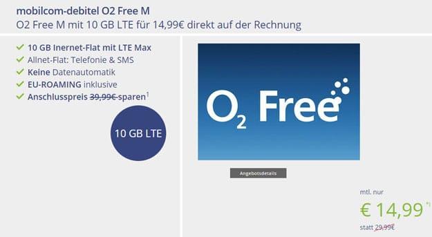mobilcom-debitel o2 Free M bei Vitrado
