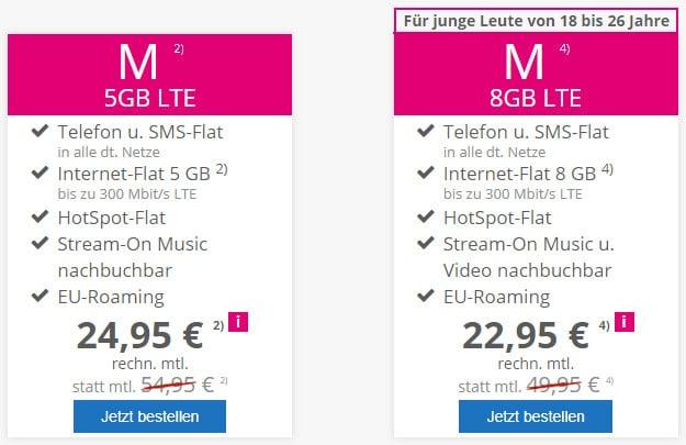 mobilcom-debitel Telekom Magenta Mobil M bei modeo