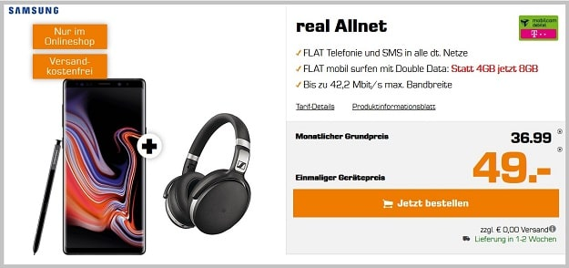 note 9 sennheiser real allnet