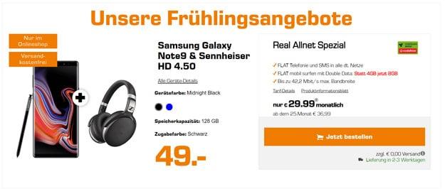 Samsung Galaxy Note 9 + Vodafone real Allnet (md)