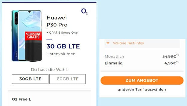 Huawei P30 Pro + o2 Free L (Boost)