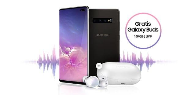 Samsung Sound des Sommers: Samsung Galaxy S10, Samsung Galaxy S10 Plus oder Samsung Galaxy S10e kaufen und Samsung Galaxy Buds kostenlos bekommen