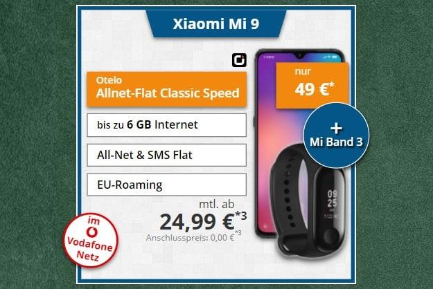 Xiaomi Mi 9 +otelo Allnet-Flat Classic LTE 50 bei Tophandy