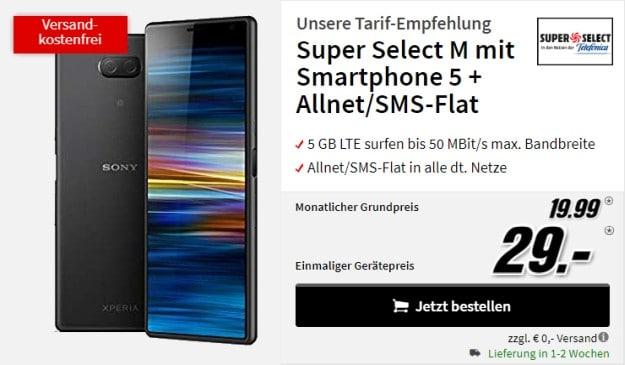 Sony Xperia 10 Plus + o2 Super Select M bei MediaMarkt