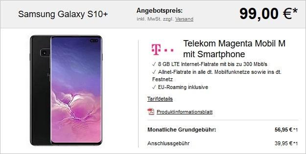 Galaxy S10 Plus + Telekom Magenta Mobil M