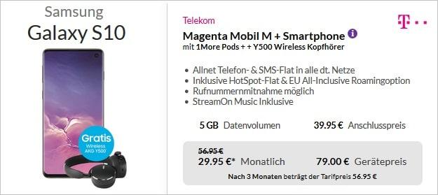Galaxy S10 + Telekom Magenta Mobil M