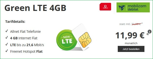 green LTE 4 GB