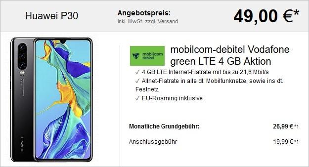 Huawei P30 + green LTE 4 GB LogiTel