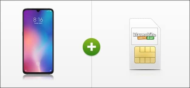 Xiaomi Mi 9 128 GB + klarmobil Allnet Flat LTE