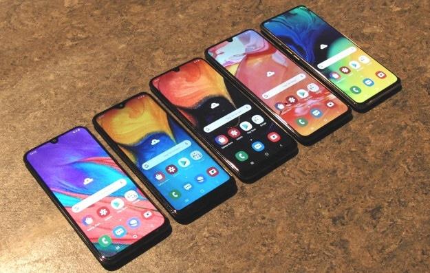 Samsung Galaxy A80, A70, A50, A40 und A20e im Vergleich