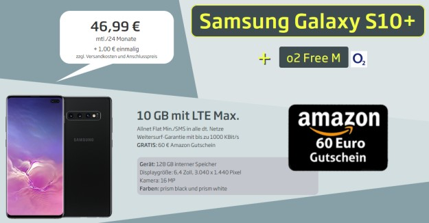 Samsung Galaxy S10 Plus + o2 Free M bei CURVED
