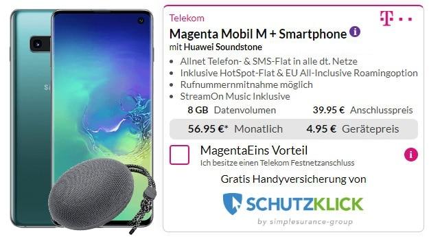 Samsung Galaxy S10 + Huawei SoundStone CM51 + Telekom Magenta Mobil M bei Preisboerse24