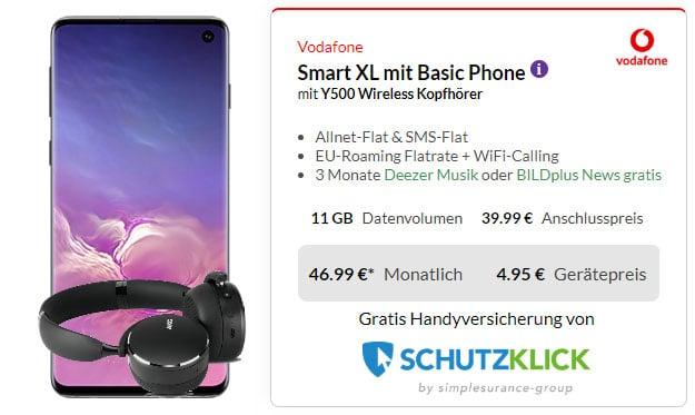 Samsung Galaxy S10 + AKG Y500 Headset + Vodafone Smart XL bei Preisboerse24