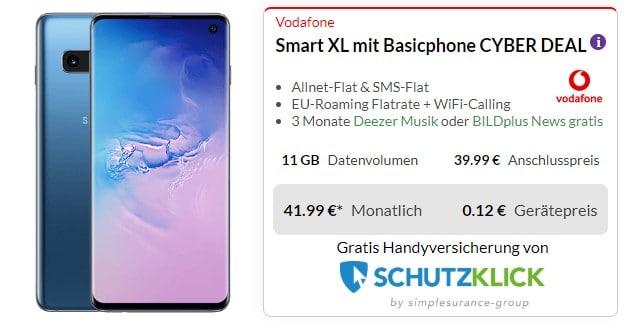 Samsung Galaxy S10 + Vodafone Smart XL bei Preisboerse24