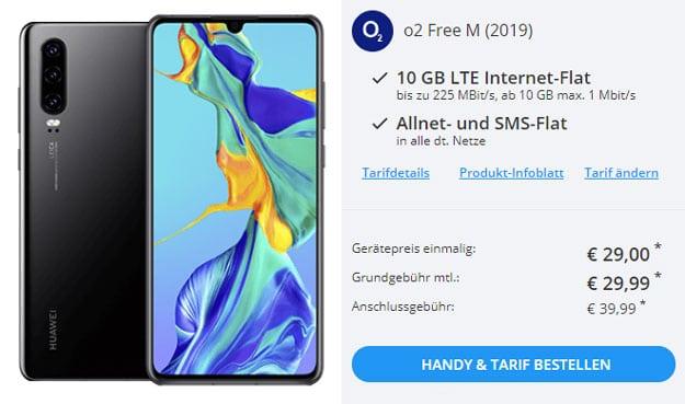 Huawei P30 + o2 Free M bei Sparhandy