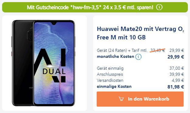 Huawei Mate 20 + o2 Free M bei o2 Online