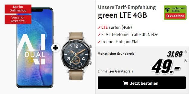 huawei mate 20 pro + green lte 4 gb mobilcom-debitel