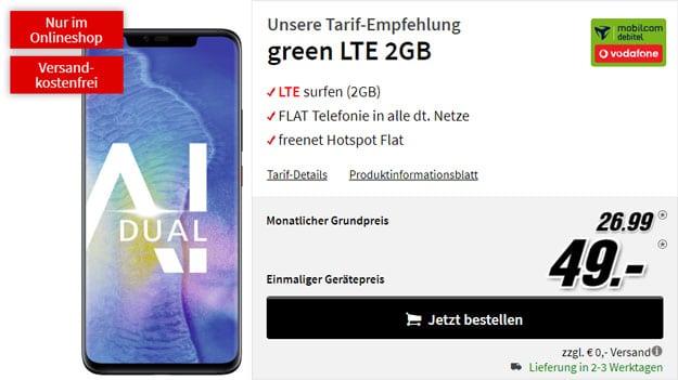 Huawei Mate 20 Pro + green LTE (Vodafone-Netz) bei MediaMarkt