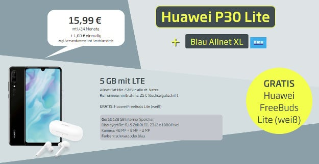 huawei p30 lite + blau allnet xl