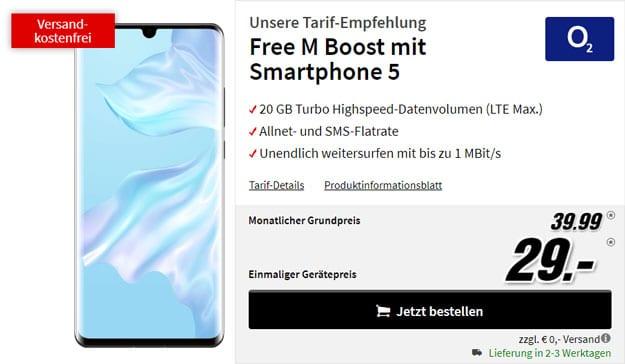 Huawei P30 Pro + o2 Free M Boost bei MediaMarkt