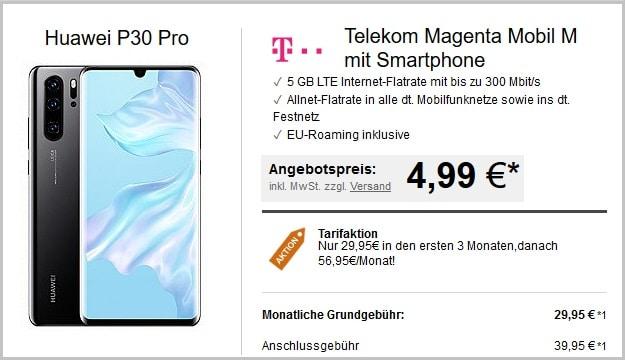 huawei p30 pro + telekom magenta mobil m