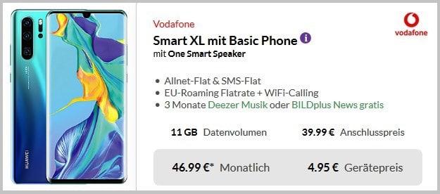Huawei P30 Pro + Intenso SLIM S5000 Powerbank + Vodafone Smart XL bei Preisboerse24