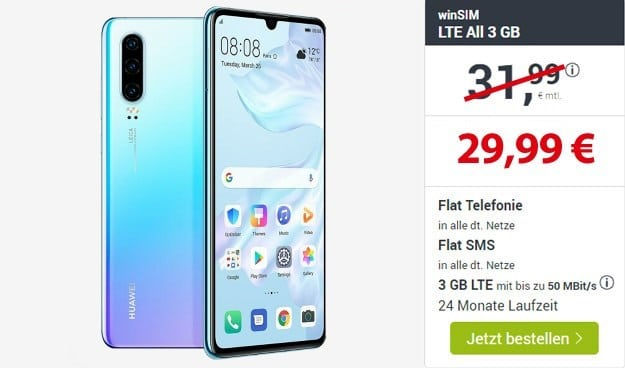 Huawei P30 + winSIM LTE All