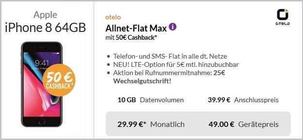 iPhone 8 + otelo Allnet-Flat Max 10 GB