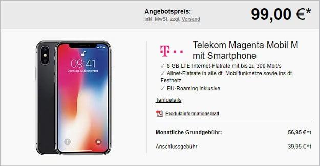 iphone x + telekom magenta mobil m
