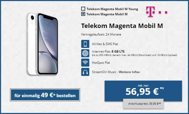 iphone xr + magenta mobil m