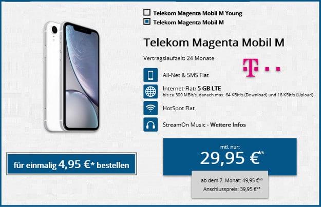 iphone xr + telekom magenta mobil m
