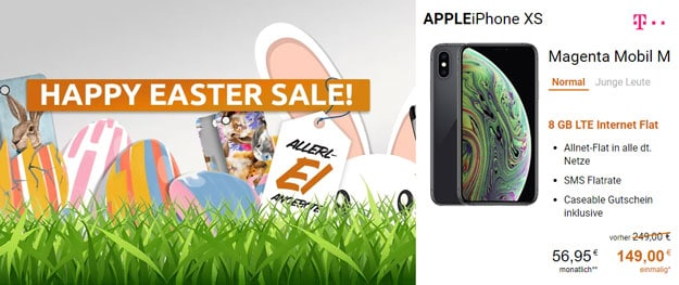 iPhone Xs + Caseable-Gutschein + Telekom Magenta Mobil M bei LogiTel