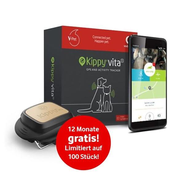 Smarter Kippy V-Pet Tracker by Vodafone für nur 9,99 € & 12 Monate gratis nutzen: Perfekt für Tiere, Kleinkinder & als Diebstahlschutz