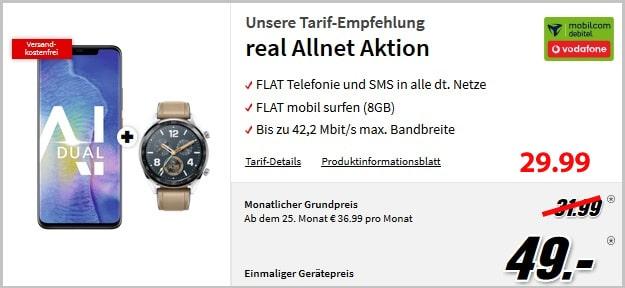 Huawei Mate 20 Pro + Vodafone real Allnet (md)