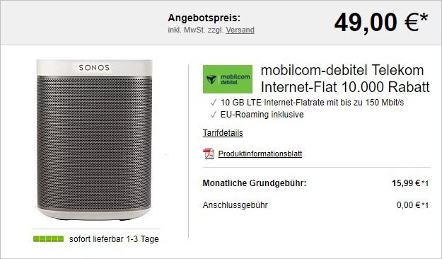 mobilcom-debitel Internet-Flat 10.000 (Telekom-Netz) bei LogiTel