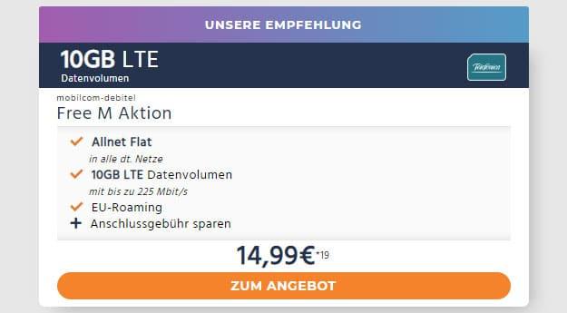 mobilcom-debitel Free M (SIM-only) bei Handyflash