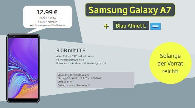 samsung galaxy a7 + blau allnet l
