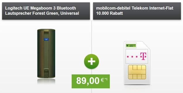 mobilcom-debitel Internet-Flat 10.000 (Telekom-Netz) mit Zugabe - 10 GB LTE Daten-Flat