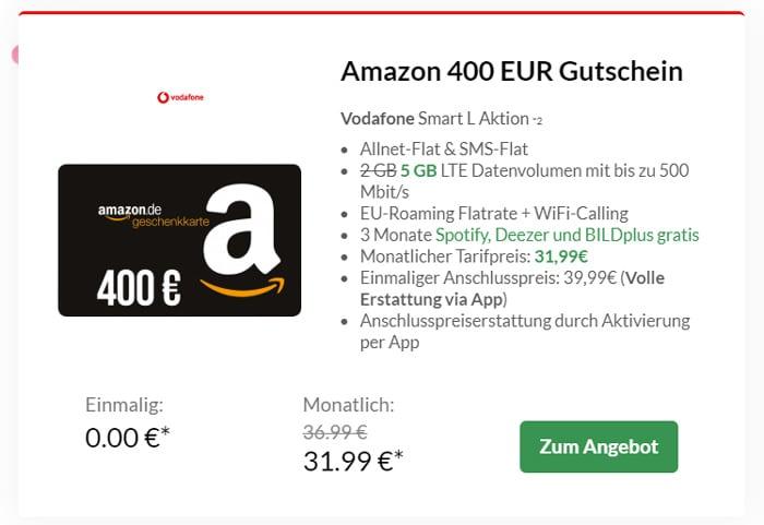 Vodafone Smart L Plus mit Amazon-Gutschein bei Preisboerse24