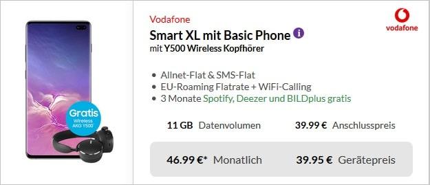 Galaxy S10 Plus + Vodafone Smart XL