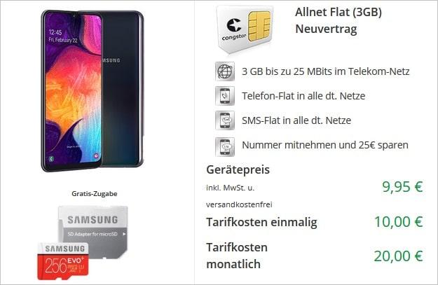 Samsung Galaxy A50 + congstar Allnet Flat