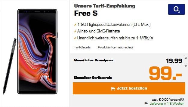 Samsung Galaxy Note 9 + o2 Free S