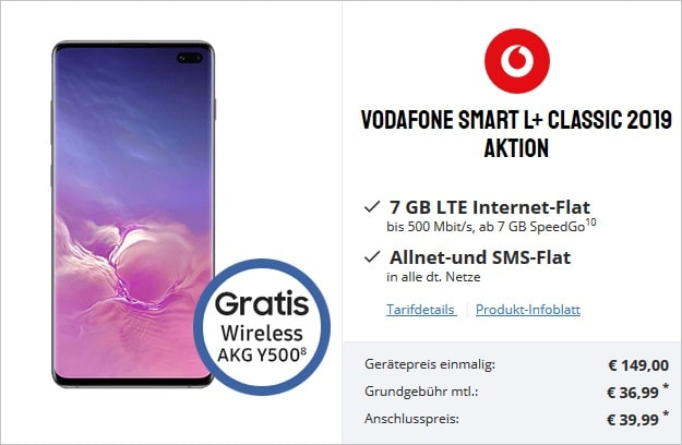 Samsung Galaxy S10 Plus + Vodafone Smart L Plus