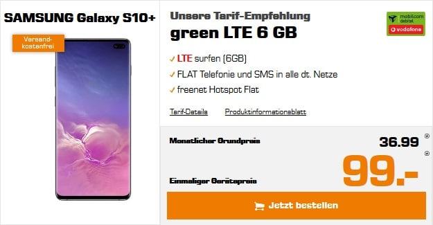 Samsung Galaxy S10 Plus + green LTE