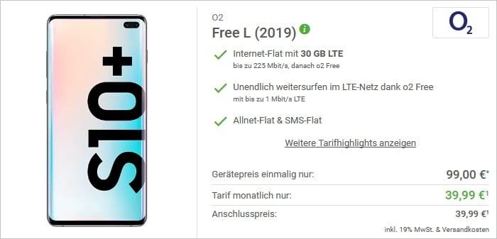 Samsung Galaxy S10 Plus + o2 Free L