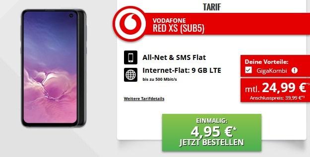 Samsung Galaxy S10e + Vodafone Red XS GigaKombi