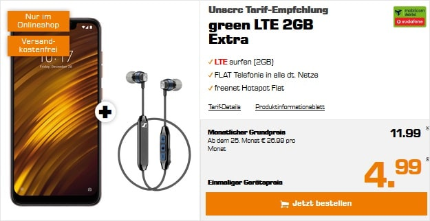 Xiaomi Pocophone F1 + green LTE